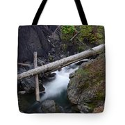 Jackstraws Over White Water  Tote Bag