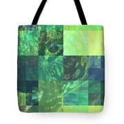 Jaguar Graph Geo Green Tote Bag