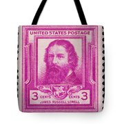 James Russell Lowell Postage Stamp Tote Bag