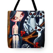 Jane And The Lemurs Tote Bag