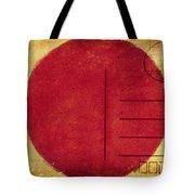 Japan Flag Postcard Tote Bag