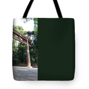 Japanese Entrance Gate On A Sunny Day Tote Bag