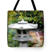 Japanese Garden Stone Snow Lantern Tote Bag