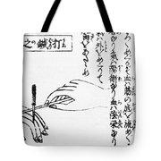 Japanese Illustration Of Moxa Tote Bag