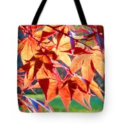 Japanese Maple Leaves 6 In The Fall Tote Bag