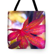 Japanese Maple Leaves In The Fall Tote Bag