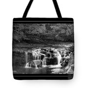 Java Falls Monochrome Tote Bag