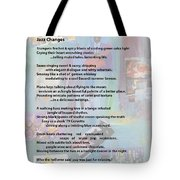 Jazz Changes - Poem Tote Bag