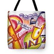 Jazz Deco Tote Bag