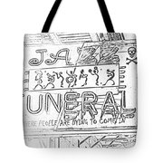 Jazz Funeral Sketch Tote Bag