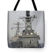 Jds Shimakaze Sails In Formation Tote Bag