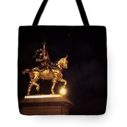 Jeanne D'arc And A Single Star Tote Bag