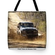 Jeep In The Mud Tote Bag