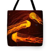Jellyfish Abstract Tote Bag by Sandi OReilly