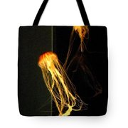 Jellyfish In Dark Tote Bag