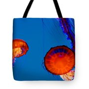California Monterey Aquarium Jellyfish Exhibit  Tote Bag