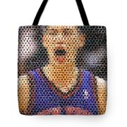 Jeremy Lin Mosaic Tote Bag by Paul Van Scott