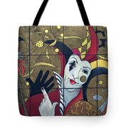 Jester In Red Tote Bag by Susanne Clark