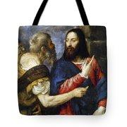 Jesus & Tribute Money Tote Bag