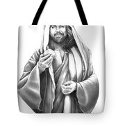 Jesus Christ Tote Bag by Murphy Elliott