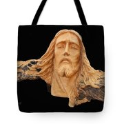Jesus Christ Wooden Sculpture -  Four Tote Bag