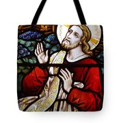 Jesus Stained Glass Tote Bag