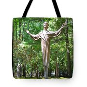 Jesus Statue Tote Bag