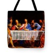 Jesus The Last Supper Tote Bag by Pamela Johnson