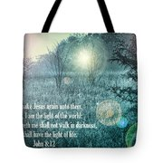 Jesus The Light Of The World Tote Bag