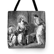 Jesus With Mary & Martha Tote Bag