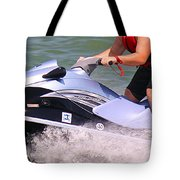 Jet Ski Speed Tote Bag