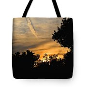 Jet Trail Sunset Tote Bag