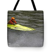 Jetboat In A Race At Grants Pass Boatnik Tote Bag