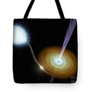 Jets Of Material Shooting Tote Bag by Stocktrek Images