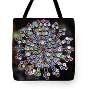 Jeweled Snow Flake Tote Bag