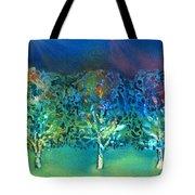 Jeweled Trees Tote Bag