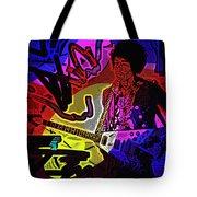 Jimi Hendrix Number 22 Tote Bag