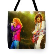 Jimmy Page And Robert Plant Tote Bag