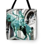 Joan Of Arc At Sacre Coeur Basilica Paris France Tote Bag
