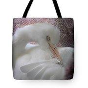 Joelle's Egret Tote Bag