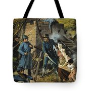 John Brown On 30 August 1856 Intercepting A Body Of Pro-slavery Men Tote Bag
