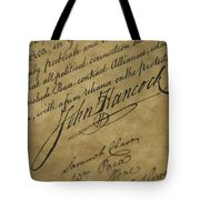 John Hancocks Signature Tote Bag