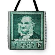 John James Audubon Postage Stamp Tote Bag