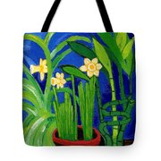 Jonquils And Bamboo Plant Tote Bag