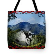 Jorma- Song For The High Mountain Tote Bag
