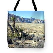 Joshua Tree And Mount Wilson Tote Bag