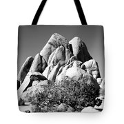 Joshua Tree Center Bw Tote Bag