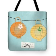 Joy Lanterns Tote Bag by Linda Woods