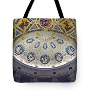 Jp Morgan Library Ornate Ceiling Tote Bag
