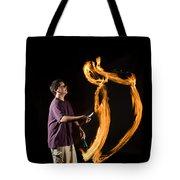 Juggling Fire Tote Bag